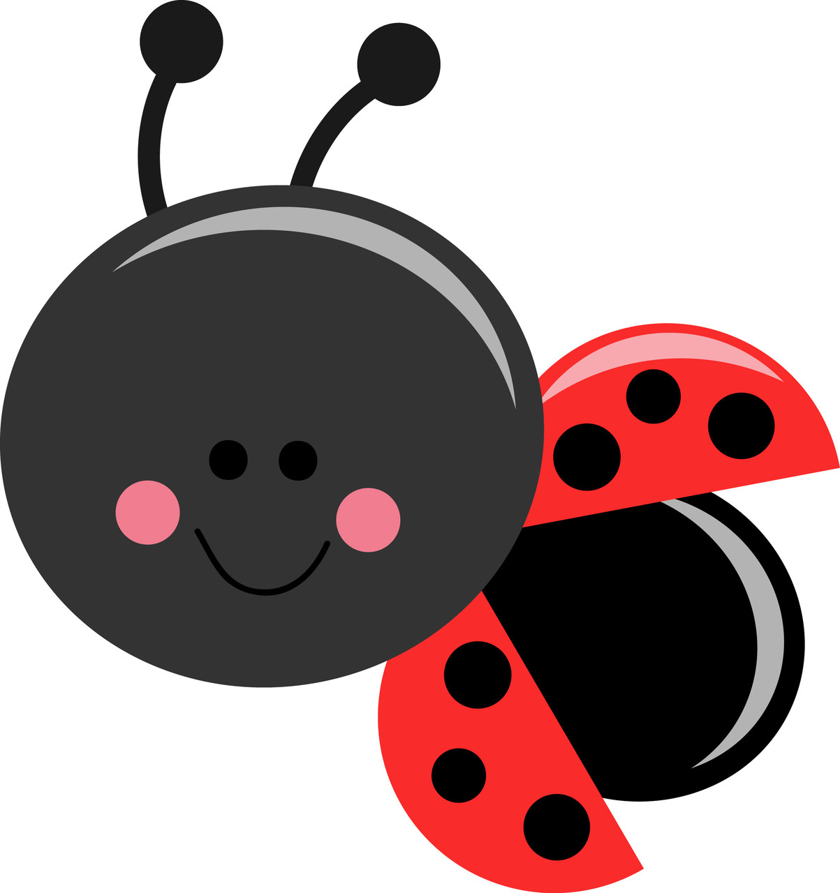 Exceptional 1203x1280 Cartoon Clipart Ladybird#3137628