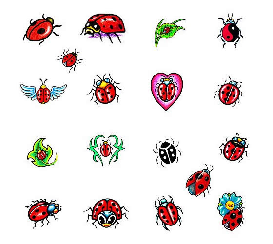 560x501 Latest Ladybug Tattoos Designs