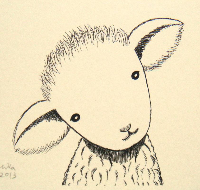 843x800 Lamb Baby Shower Gift Lamb Nursery Art Lamb Nursery Decor Lamb