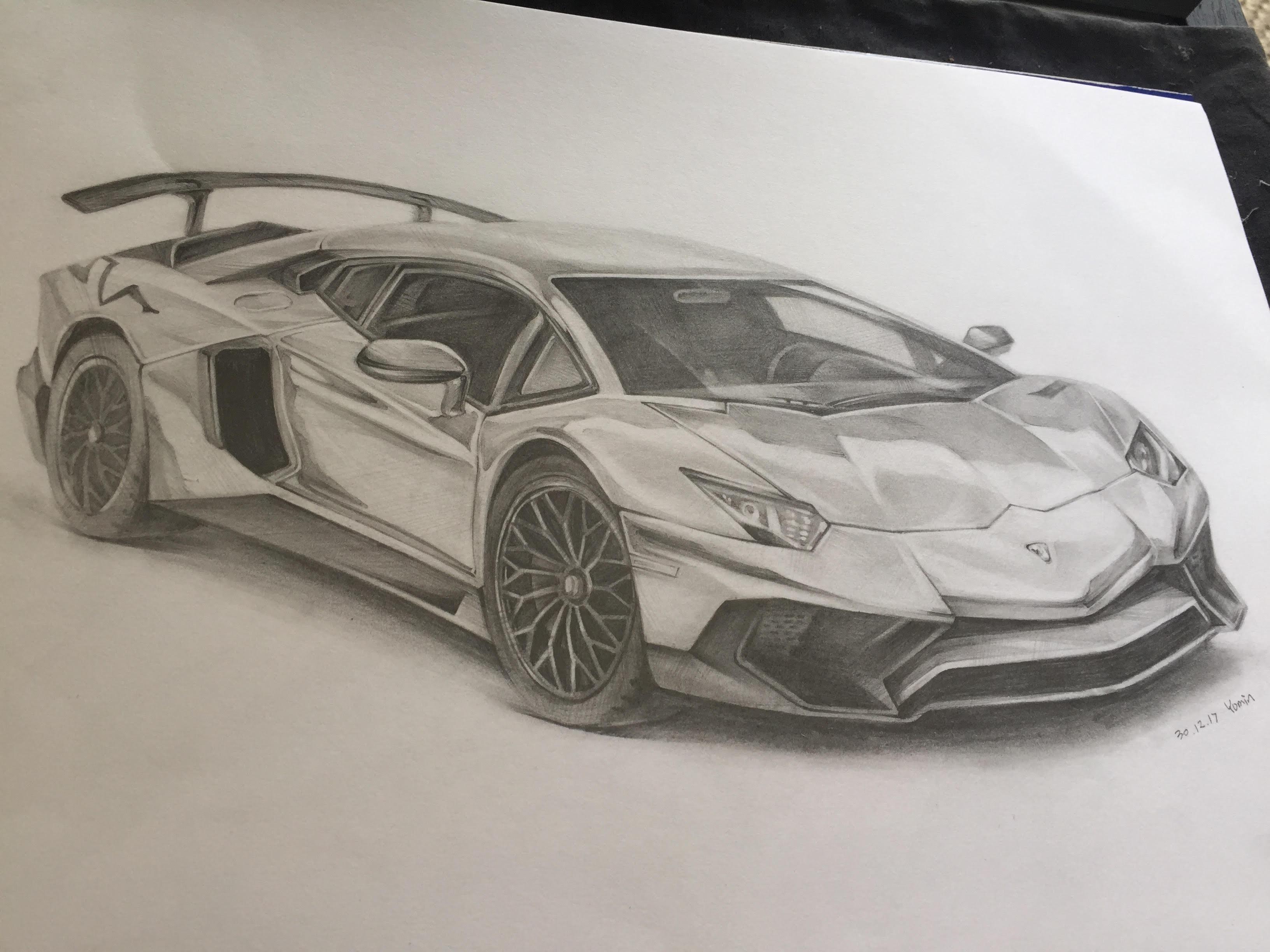 Lamborghini Aventador Drawing At Getdrawings Free Download