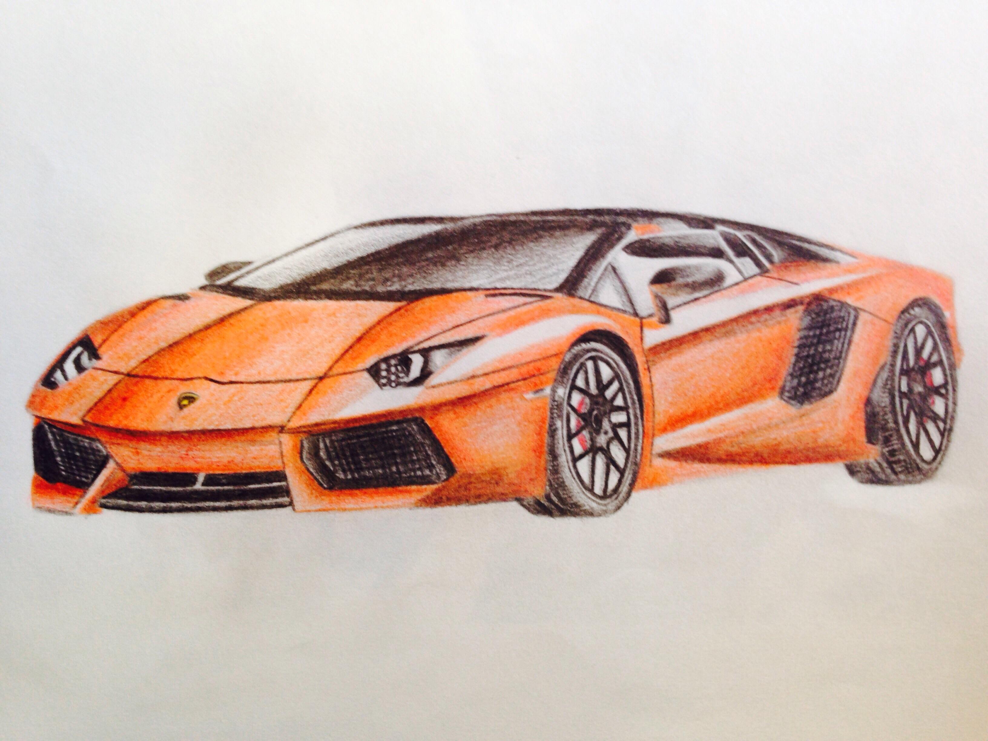 3264x2448 A4 Lamborghini Car Drawing Patelmanu7 Foundmyself