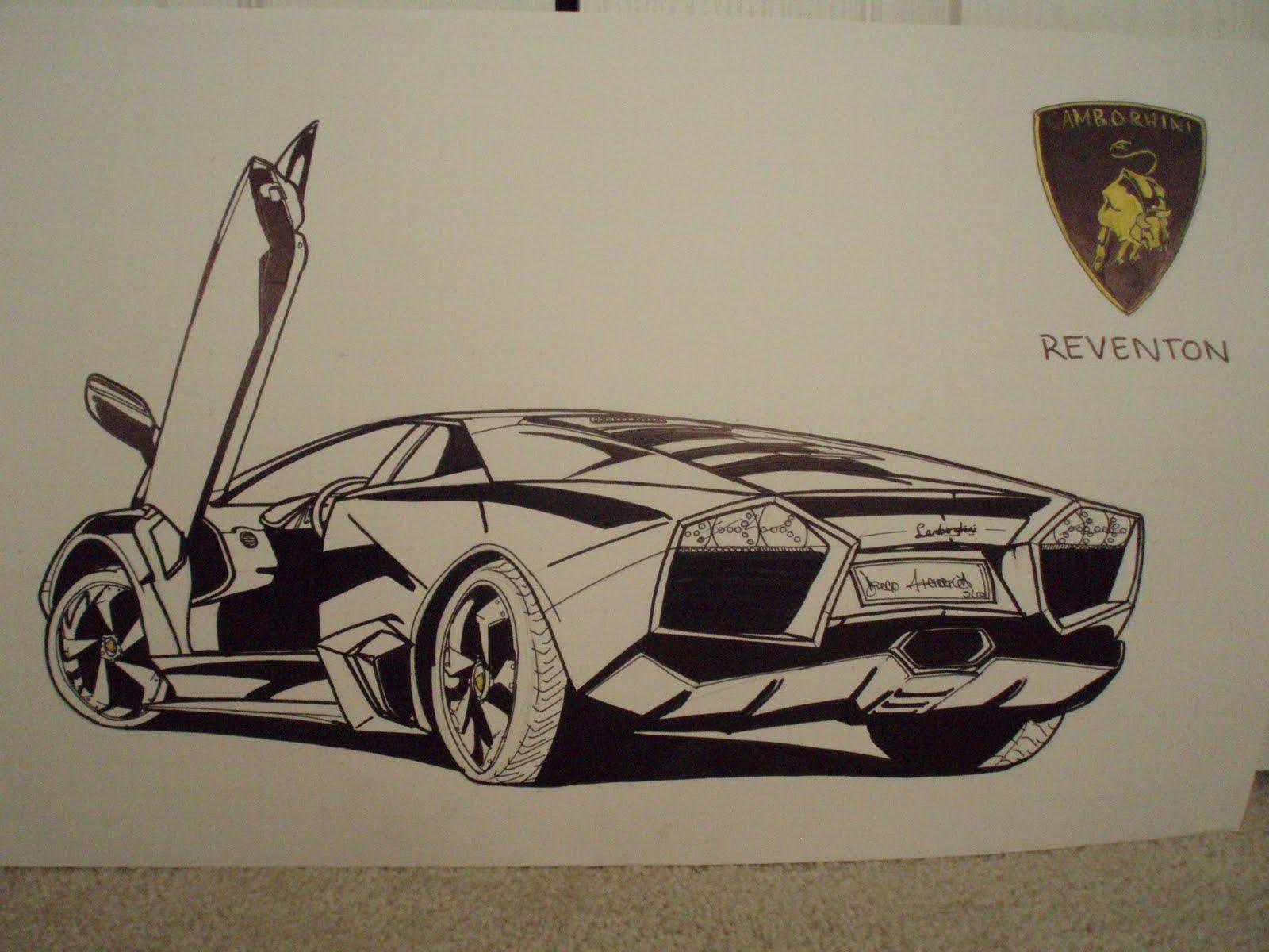 1600x1200 Car Drawings Lamborghini Reventon 555 Car Drawings