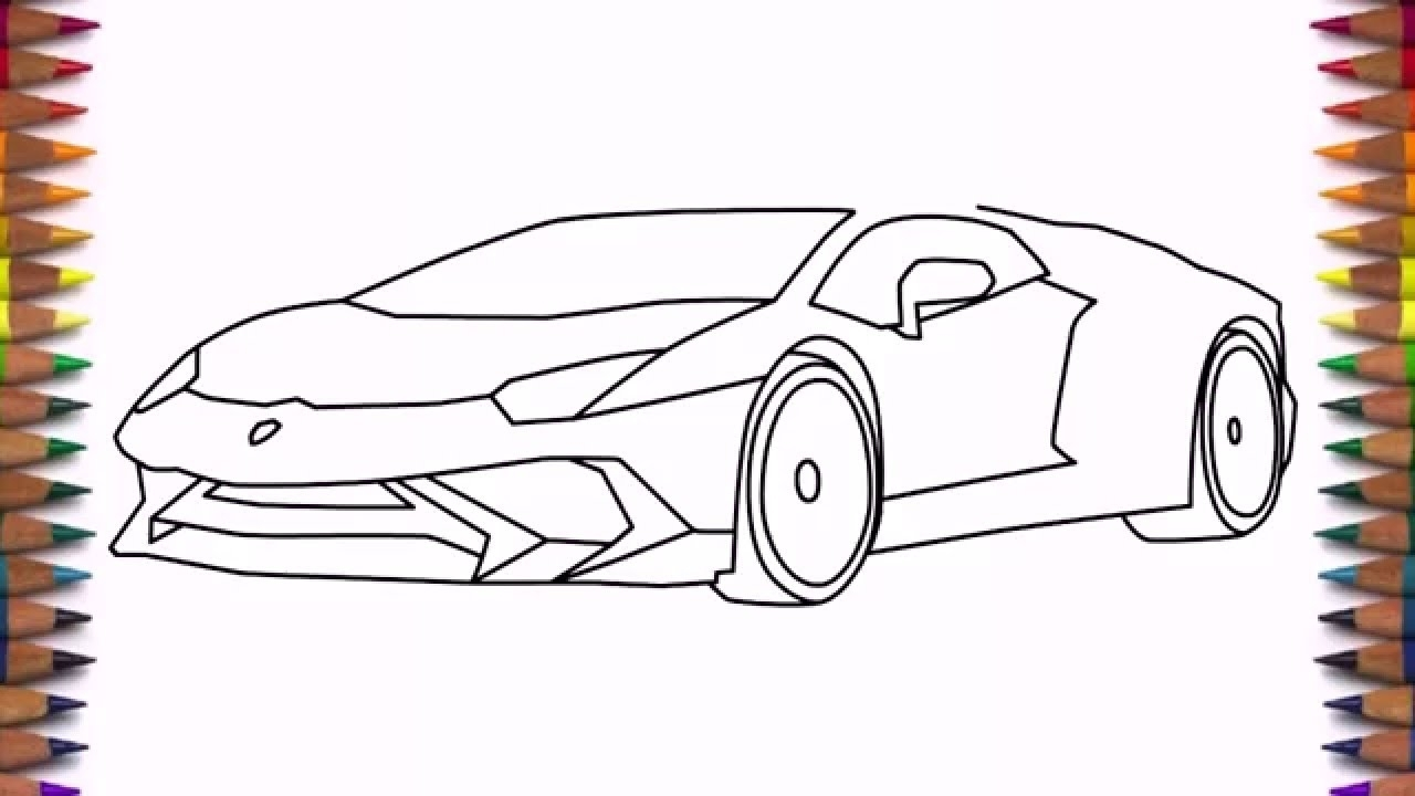 1280x720 How To Draw A Car Lamborghini Aventador Lp Step By Step Easy