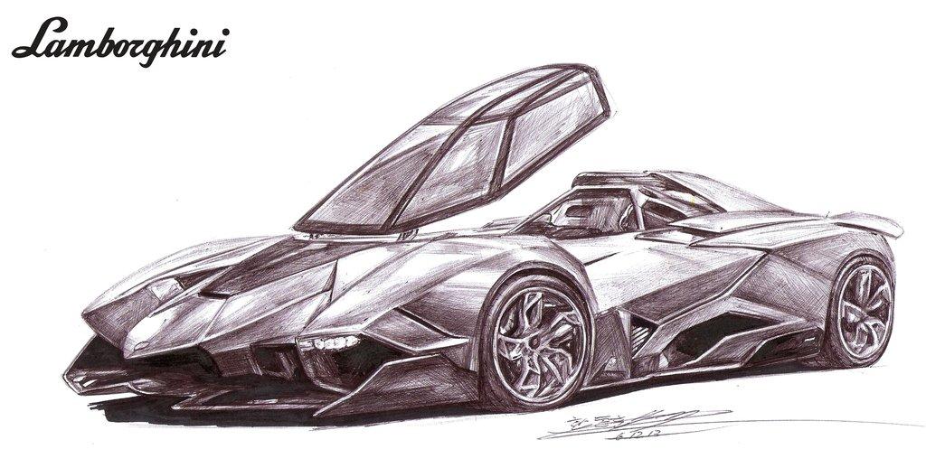1024x518 Lamborghini Egoista Single Seater Drawing By Toyonda