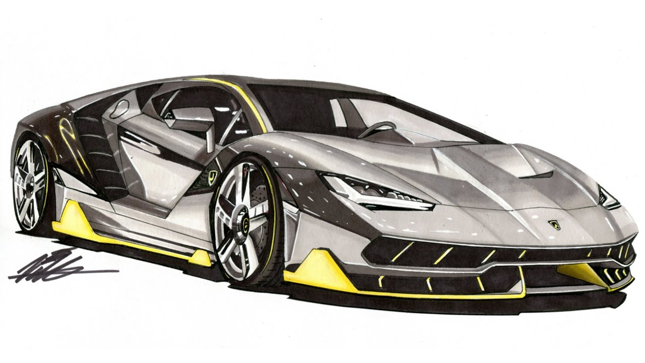 Lamborghini Car Drawing At Getdrawings Com Free For Personal Use