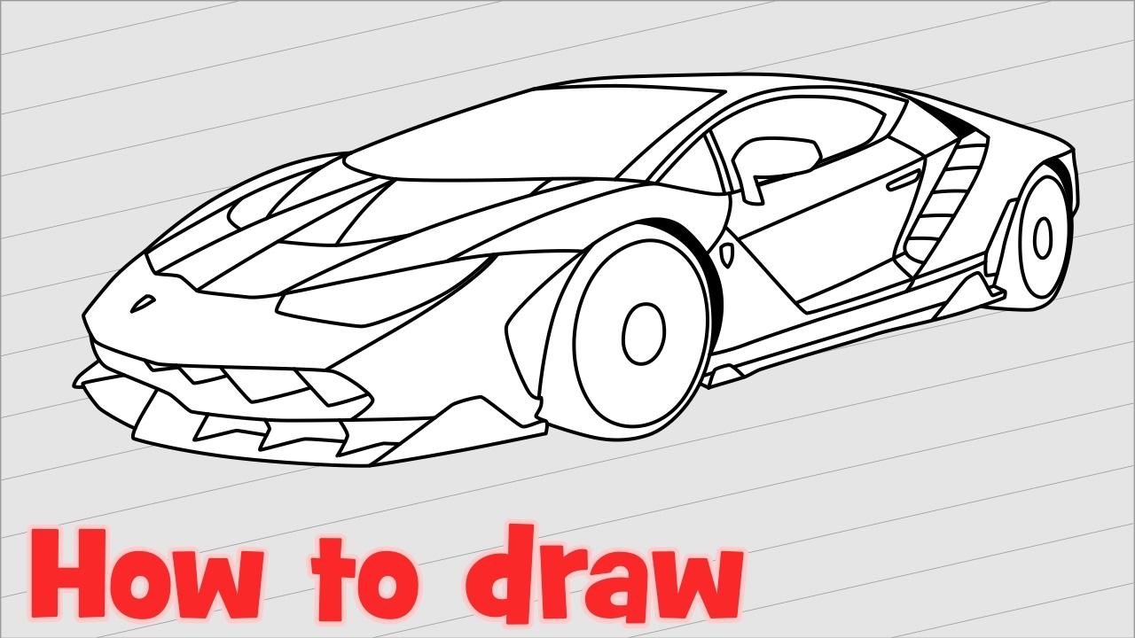 Lambhini Drawing at GetDrawings Free for personal