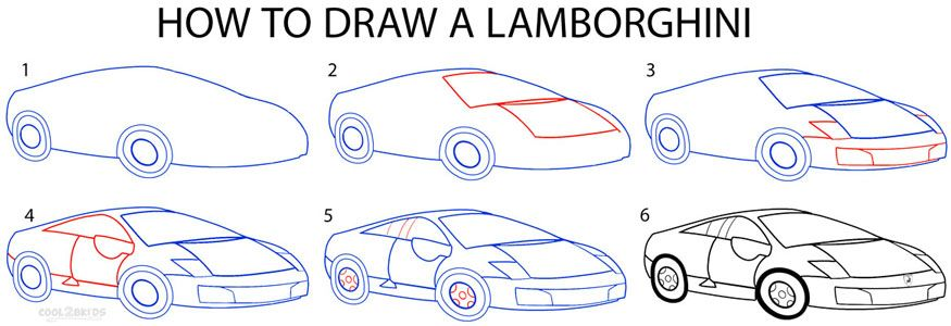 875x300 How To Draw A Lamborghini Step By Step Drawing Tutorial