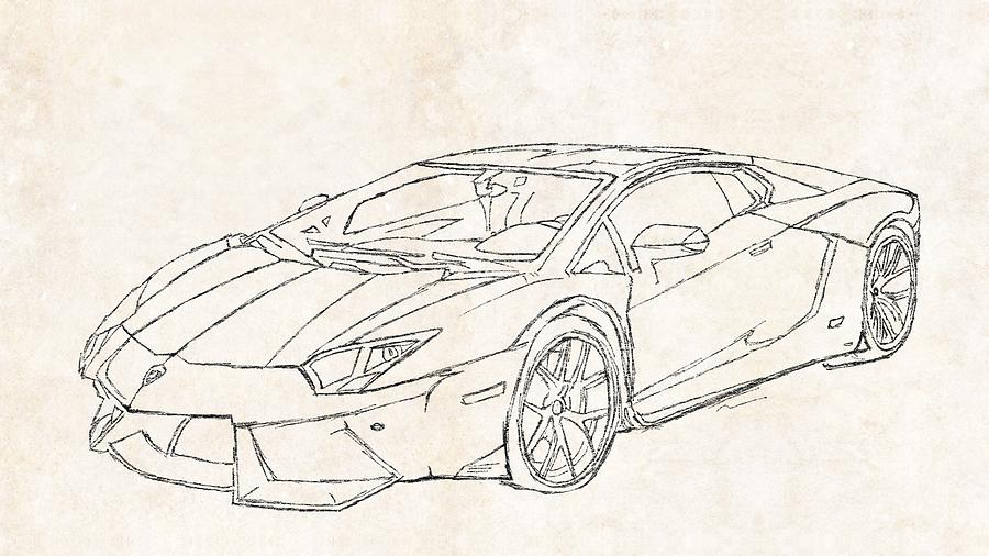 Lamborghini Drawing Pictures At Getdrawings Com Free For Personal