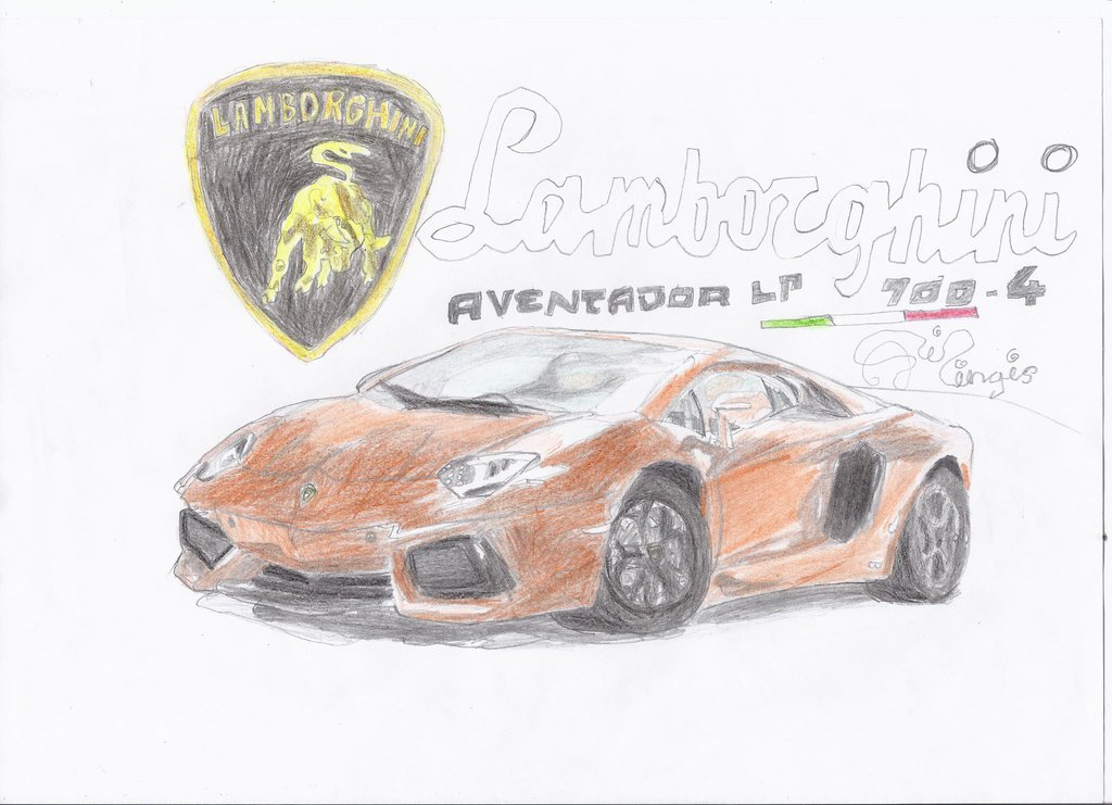 1024x741 Lamborghini Aventador Lp 700 4 Drawing By Amezy2000