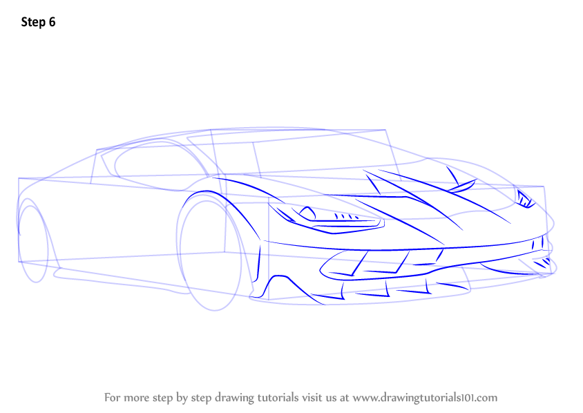 844x598 Learn How To Draw Lamborghini Centenario (Sports Cars) Step By