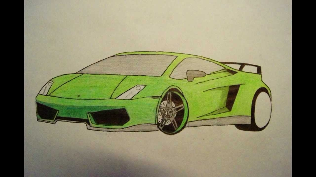 1280x720 How To Draw A Lamborghini Within How To Draw A Lamborghini Step