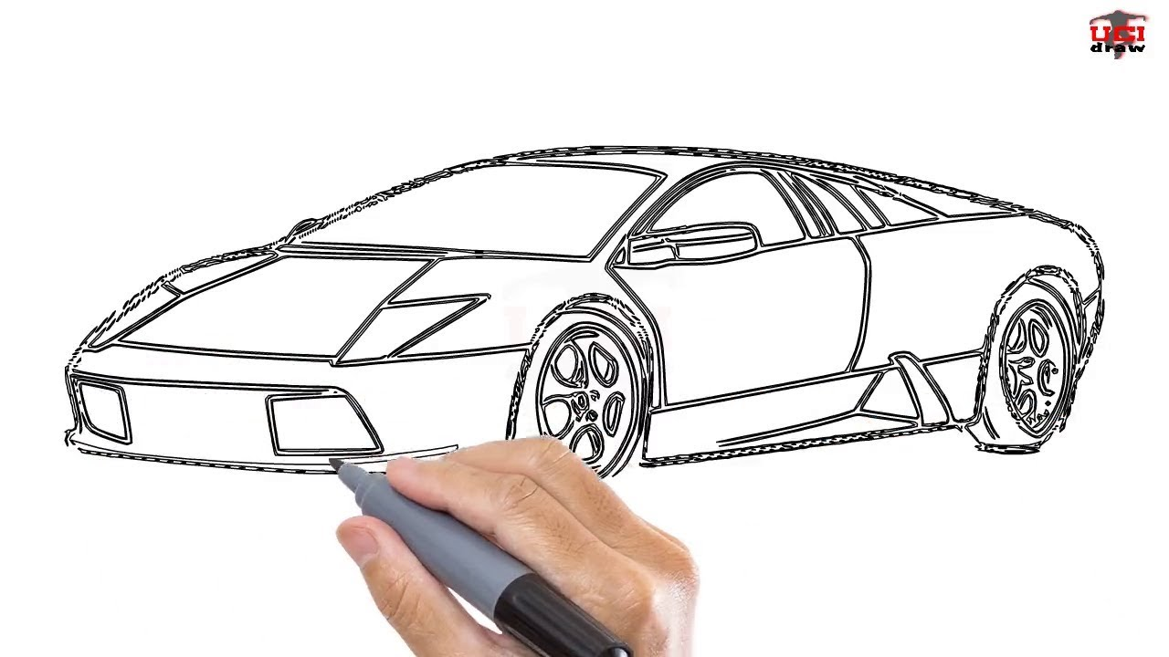 1280x720 How To Draw A Lamborghini Easy Step By Step Drawing Tutorials