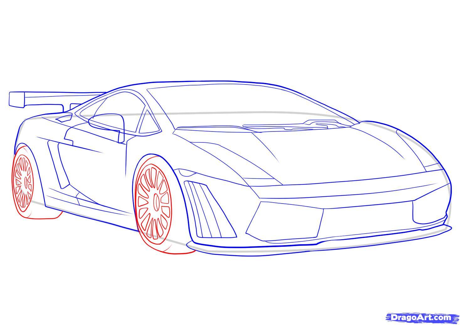 1467x1038 Sketch Cars Step Step How To Draw Lamborghini Aventador, A Car