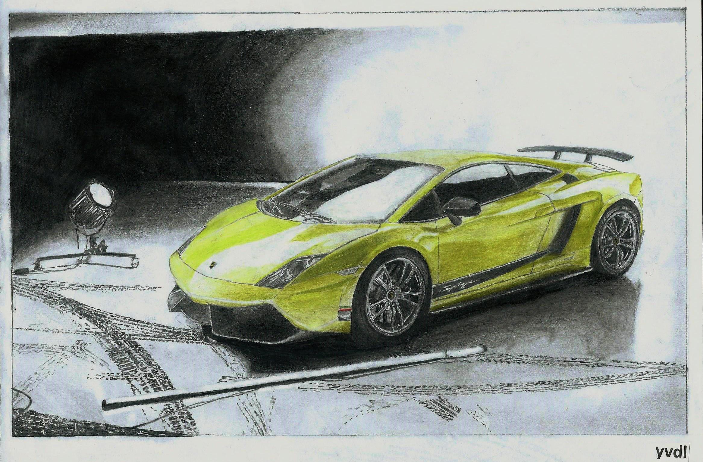 2333x1535 Drawing Of A Lamborghini Gallardo Lp570 4 Superleggera.