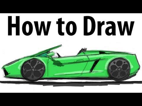 480x360 How To Draw A Lamborghini Gallardo Spyder