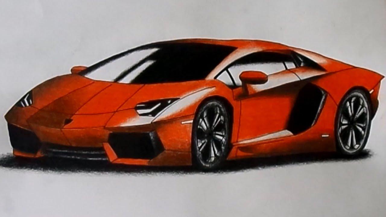 1280x720 Lamborghini Aventador Drawing Time Lapse