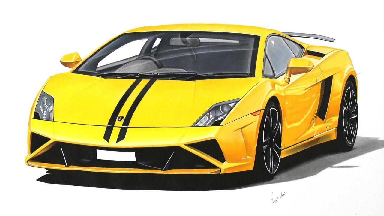 1280x720 Lamborghini Gallardo Drawing