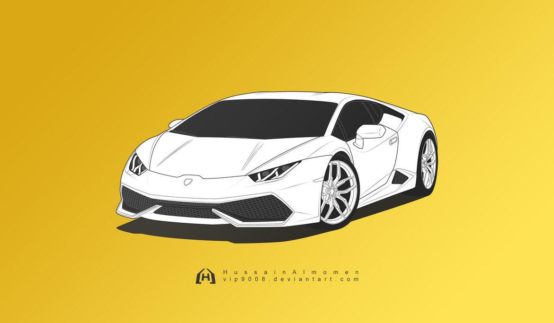 Lamborghini Huracan Drawing at GetDrawings.com | Free for personal ...