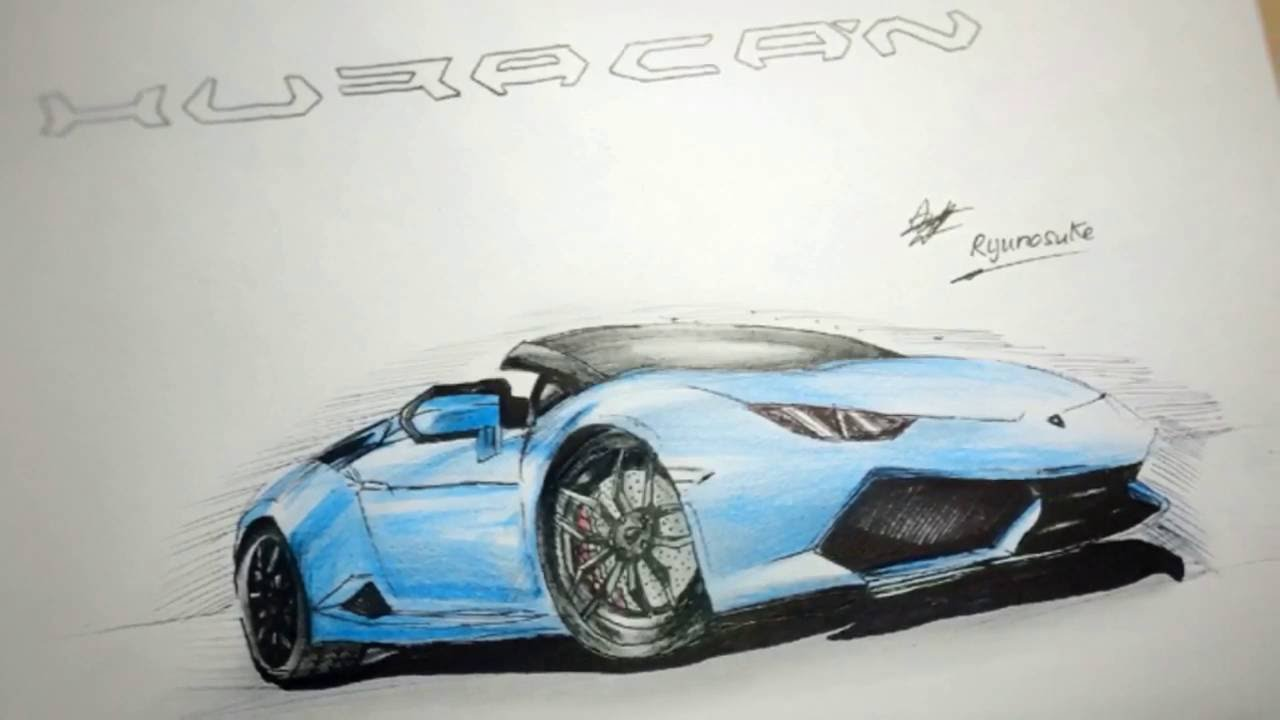 1280x720 Lamborghini Huracan Spyder Drawing