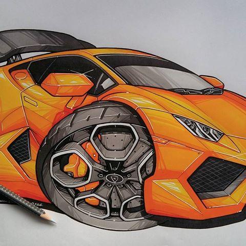 Lamborghini Huracan Drawing at GetDrawings.com | Free for personal on