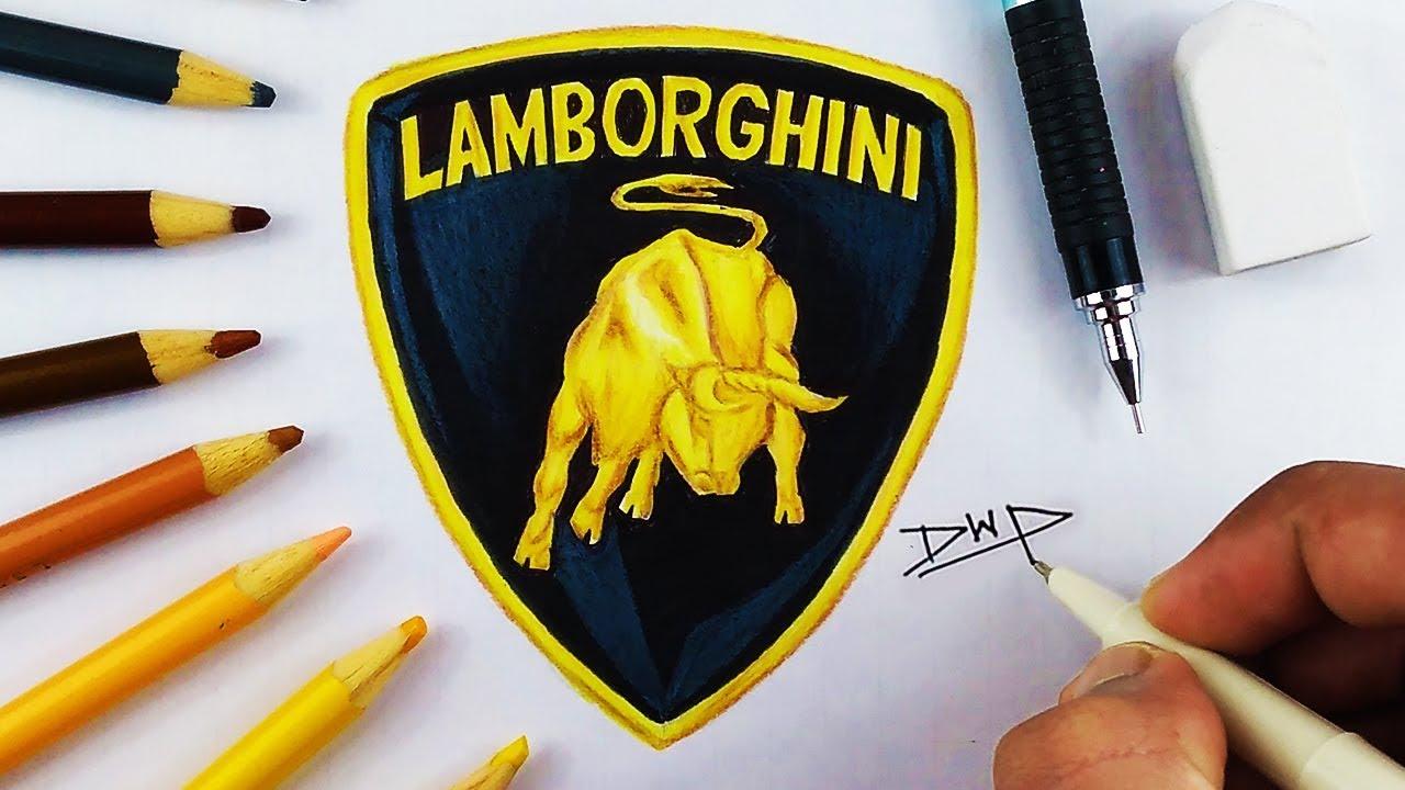 Lamborghini Logo Drawing At Getdrawings Com Free For