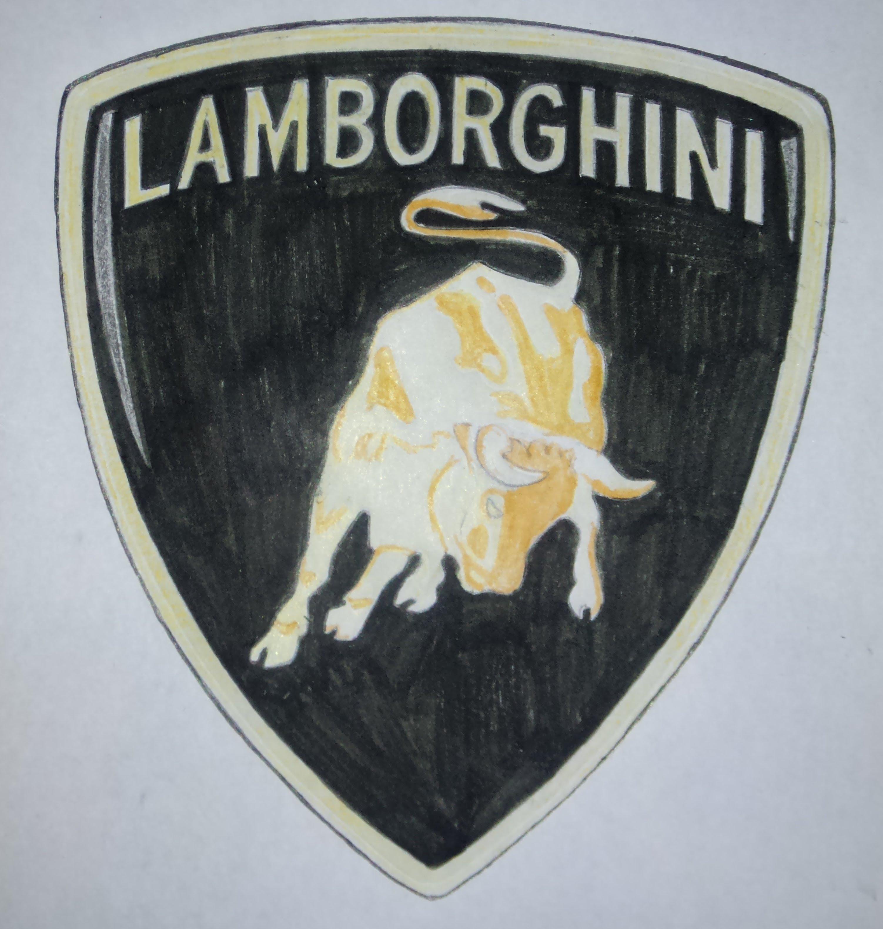 3004x3160 Lamborghini Logo Drawing