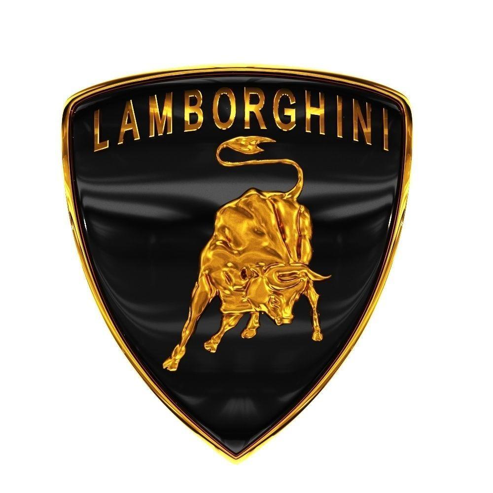 1000x1000 Lamborghini Logo 3d Printable Model Cgtrader