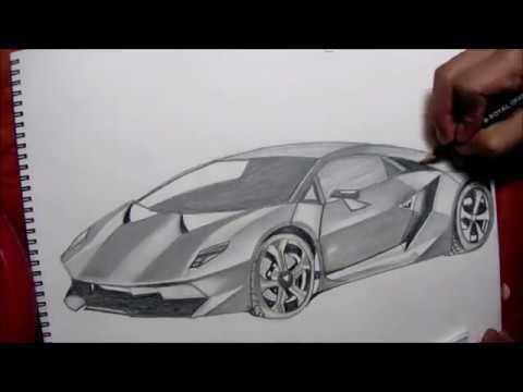 480x360 Dibujando El Lamborghini Sesto Elemento Drawing The Lamborghini