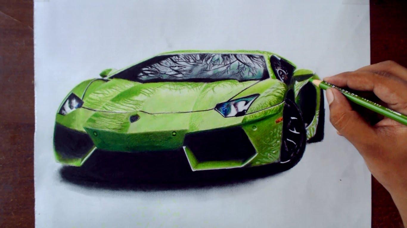 1366x768 Drawing Cars 1