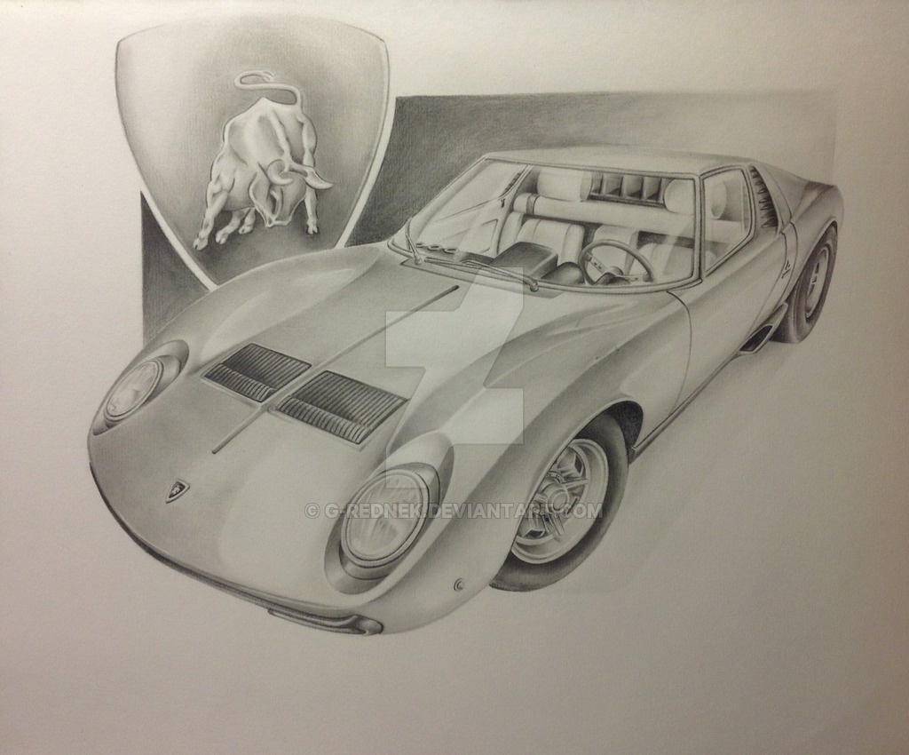 1024x850 Lamborghini Miura By G Rednek