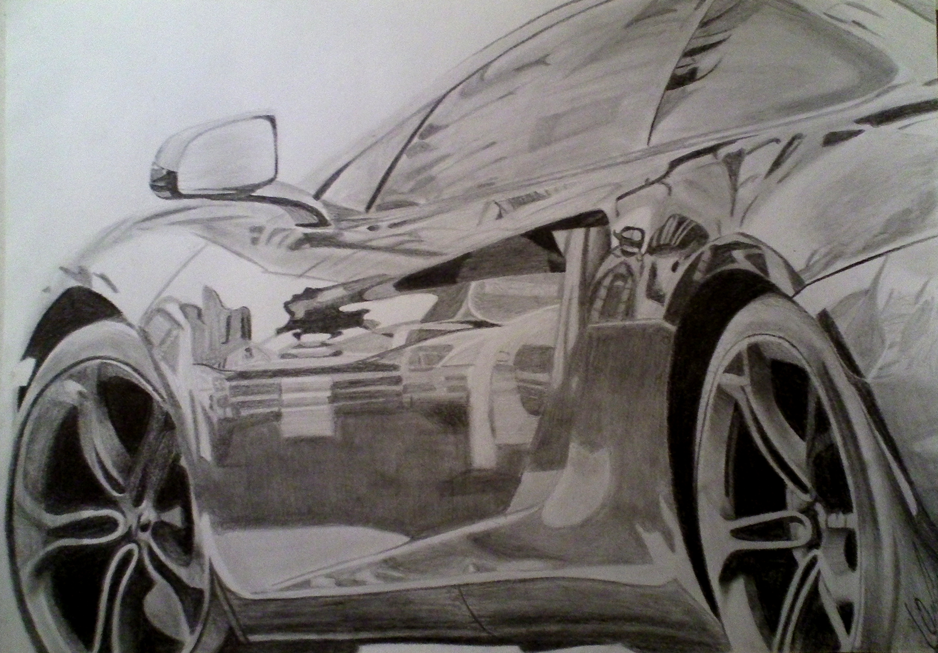 3118x2171 Lamborghini Reventon Pencil Drawing By Xrinagex