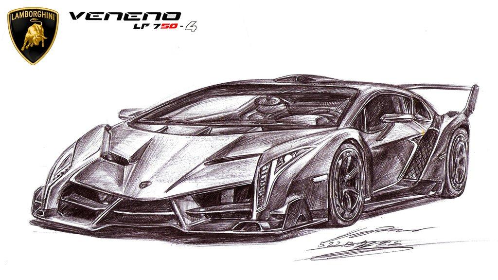 Mclaren Car Coloring Pages : Lamborghini pencil drawing at getdrawings.com free for personal
