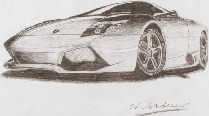 720x400 Lamborghini Pencil Shading By Andrew Neet