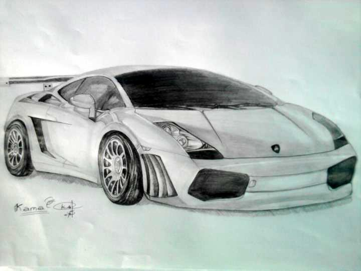 720x540 Lamborghini Pencil Drawing By Darkman619x