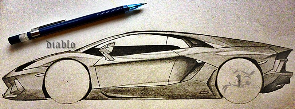 Lamborghini Pencil Drawing At Getdrawings Com Free For Personal