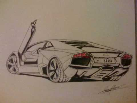 480x360 How To Draw A Lamborghini