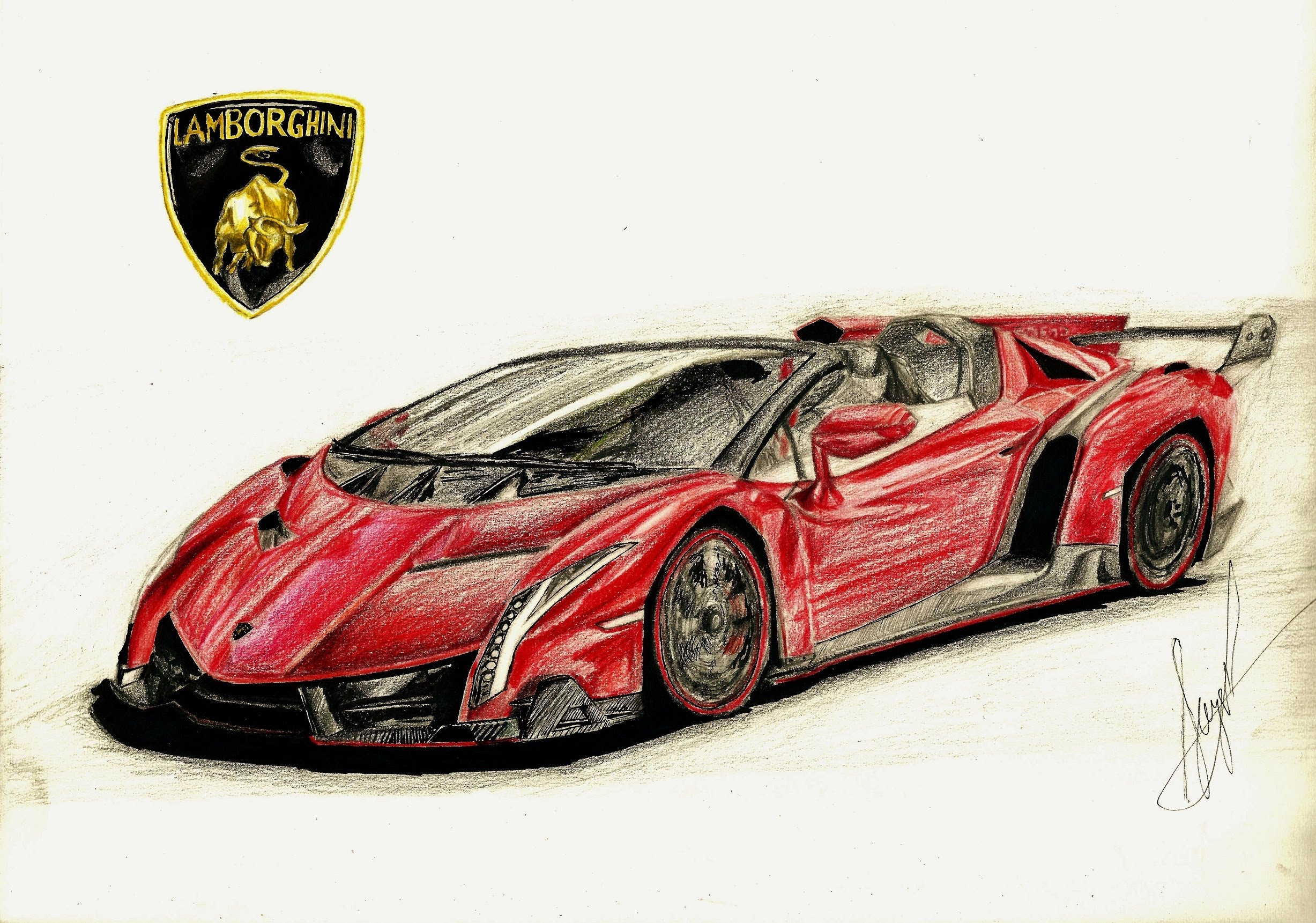 Lamborghini Veneno Drawing At Getdrawingscom Free For