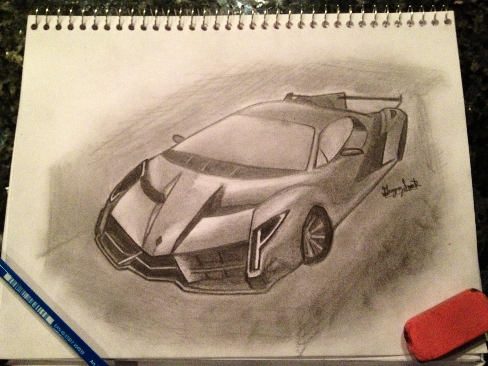 Lamborghini Veneno Drawing at GetDrawings.com