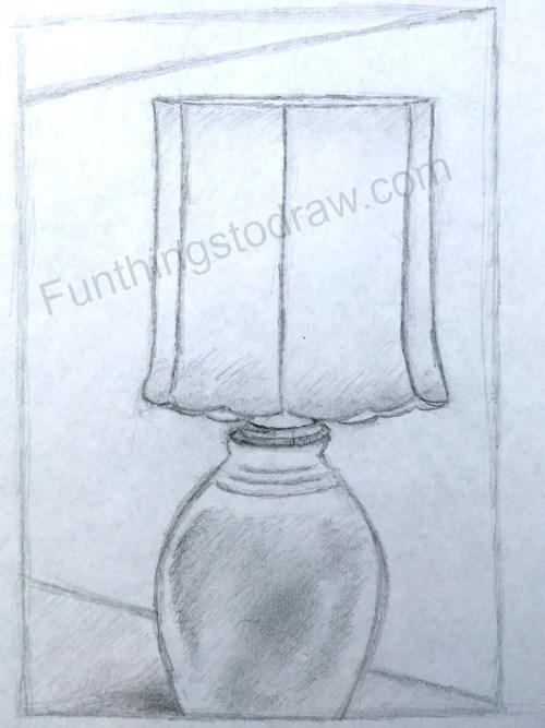 500x667 My Living Room Lamp Sketch