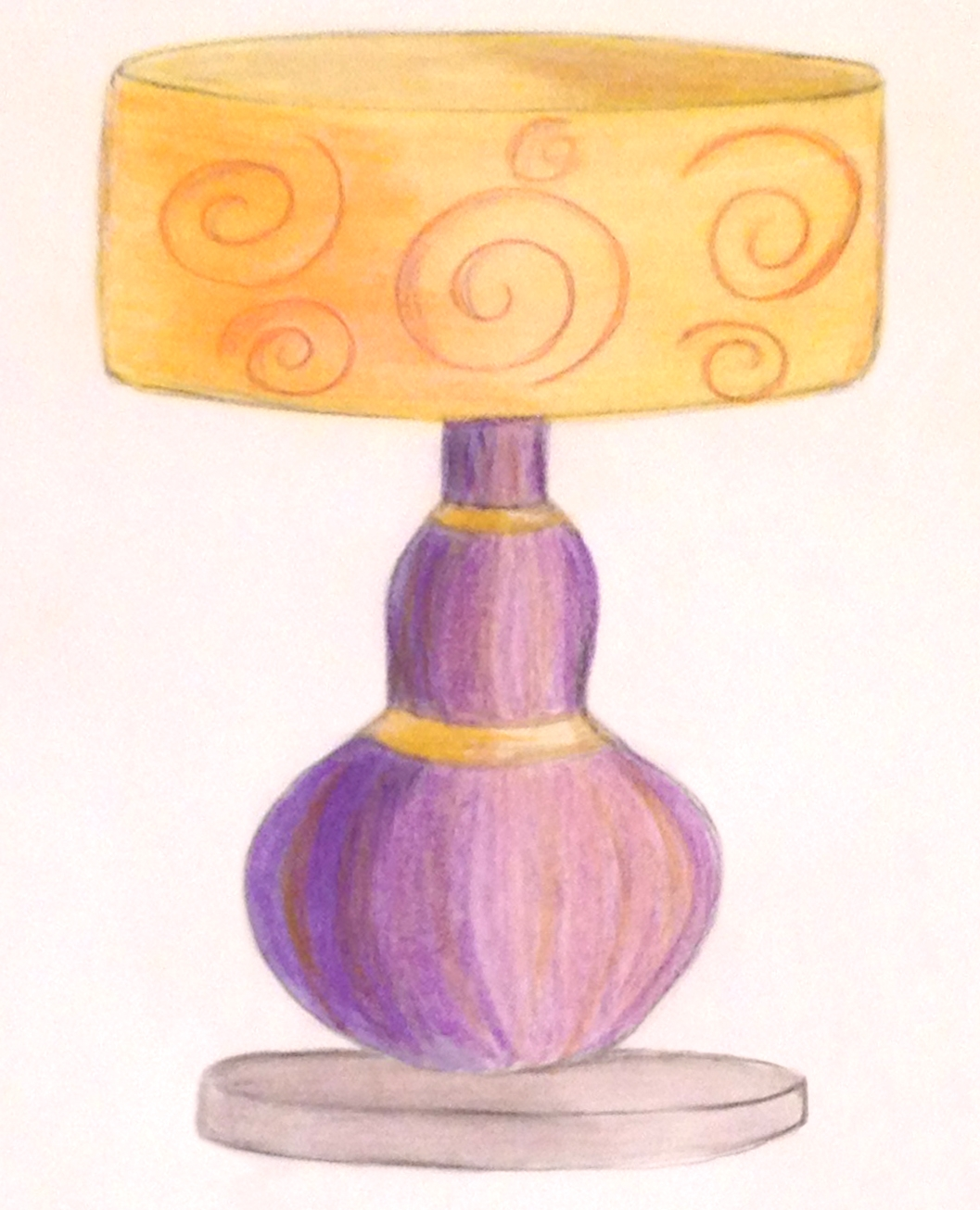 1057x1306 Table Lamp Drawing Images Coffee Table Design Ideas Regarding