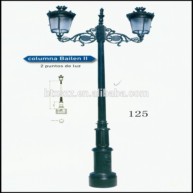750x750 Cast Iron Garden Lamp Post,light Pole,streetoutdoor Lighting Post