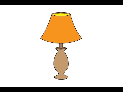 480x360 How To Draw A Lamp Easy Step By Step