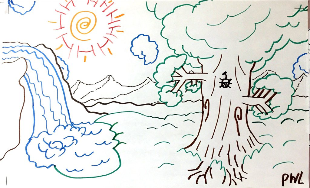1024x622 Magic Land (Drawing) By Unclebibby47