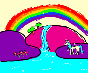 300x250 Magical Rainbow Unicorn Land