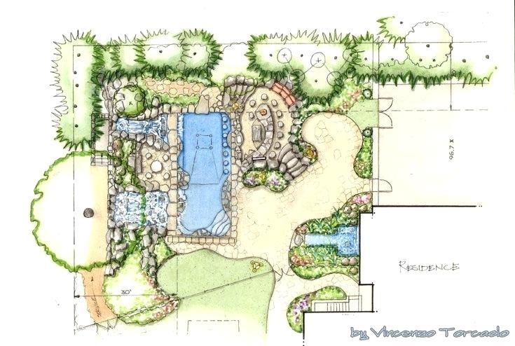 735x494 landscape architecture blueprints contemporary residential