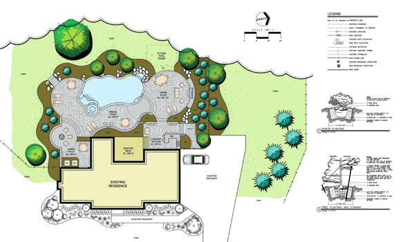 580x350 Landscape Architecture Plan Drawings Simple