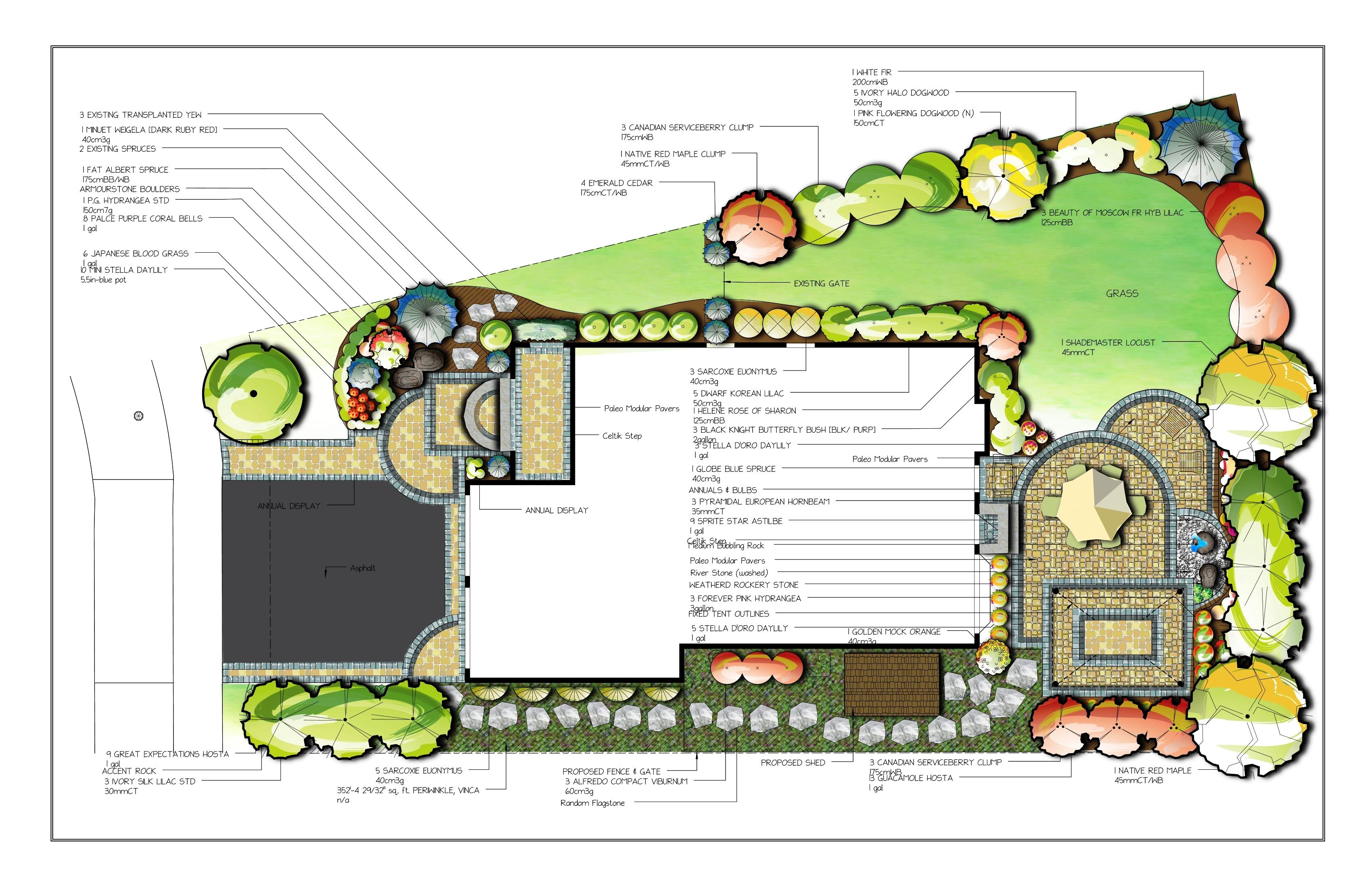 3400x2200 Landscape Plan Drawing Download Landscape Design Drawing Garden