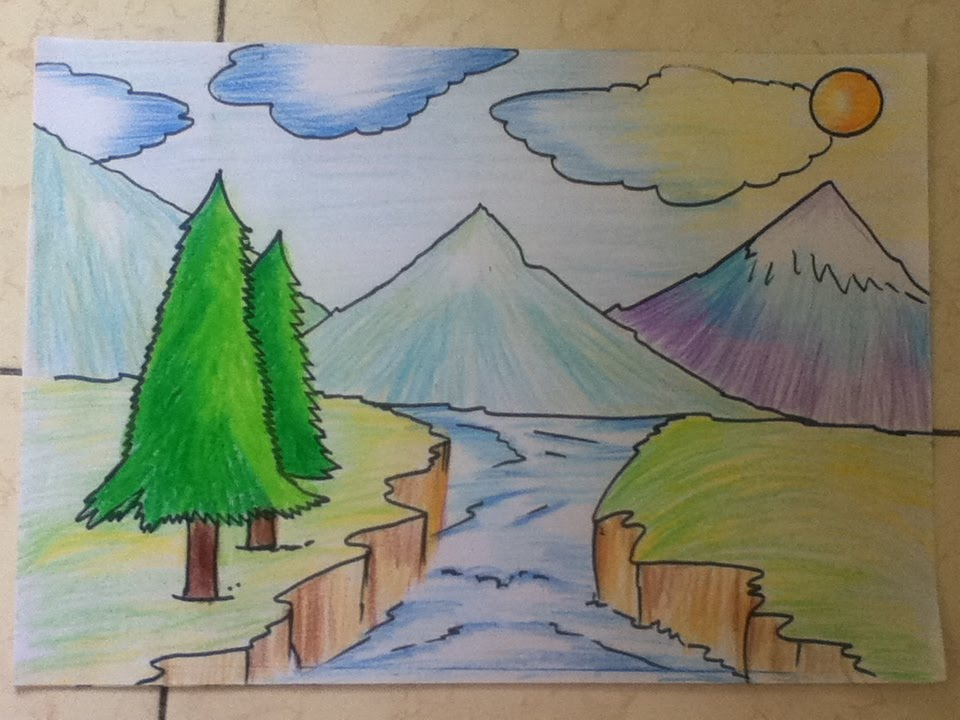 960x720 Beautiful Landscape Drawing For Beginners