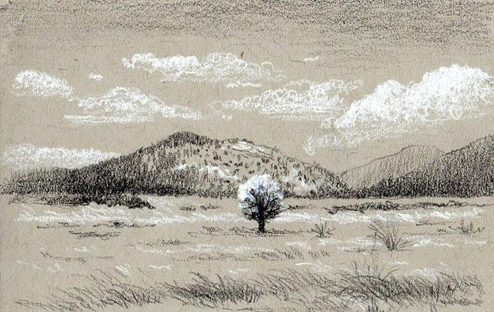 710x449 Drawing Landscapes In Pencil Landscape Drawing In Charcoal Pencil