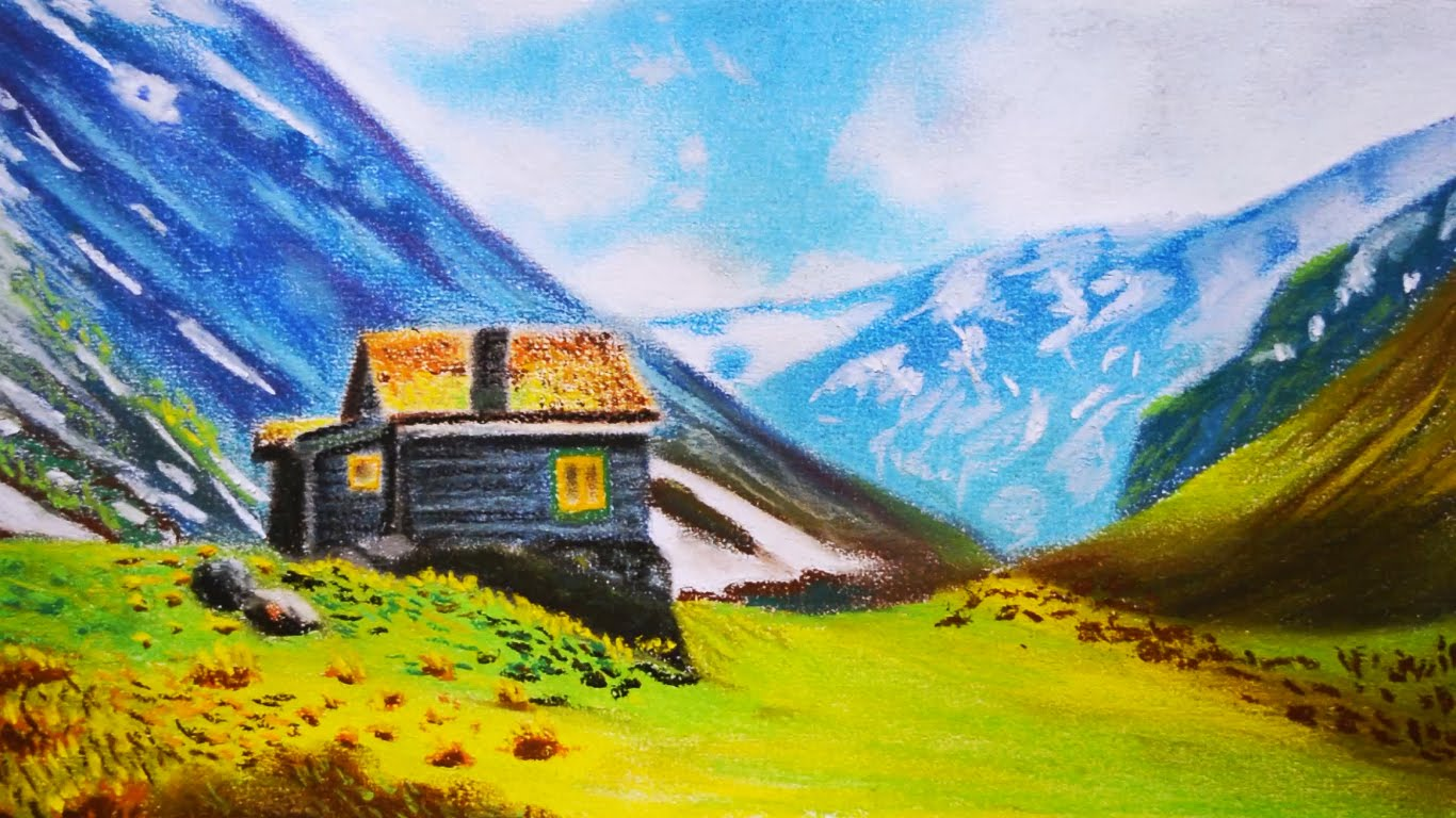 Landscape Pastel Drawing At Getdrawings Com Free For Personal Use